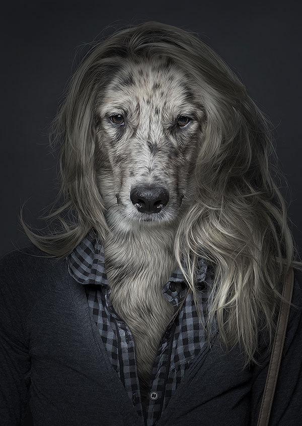 Blonde Hundemenschen
