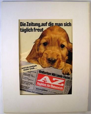 Werbung mit Hund. Denn Autos haben auch vier Beine