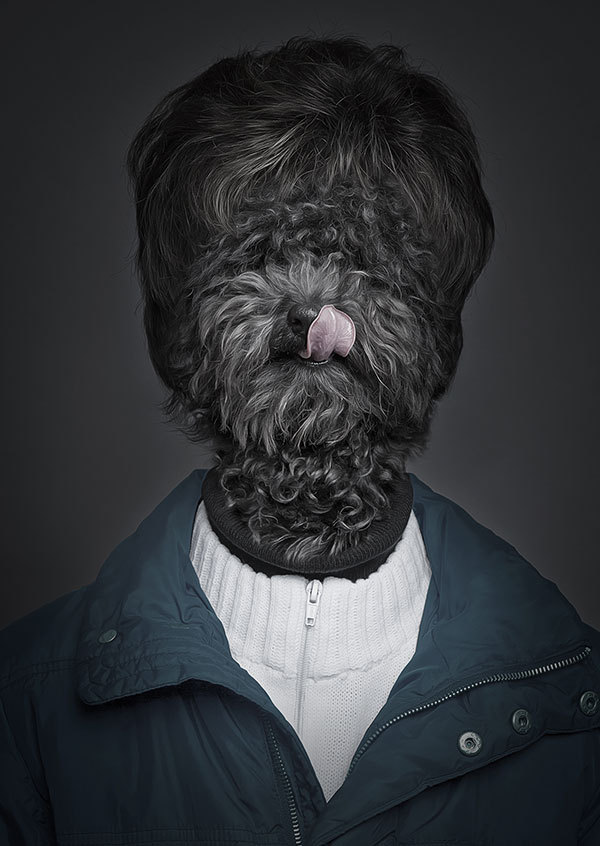 Schmuse Hundemensch