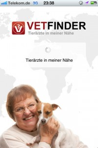 Hunde App - Vetfinde - die Suche nach dem Tierarzt in der Umgebung