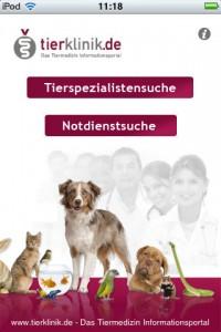 Hunde App - Tierklinik - die Suche nach dem Tierarzt in der Umgebung