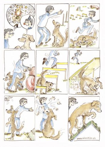 Wie individuelle Hunde Cartoons von Deinem Hund entstehen