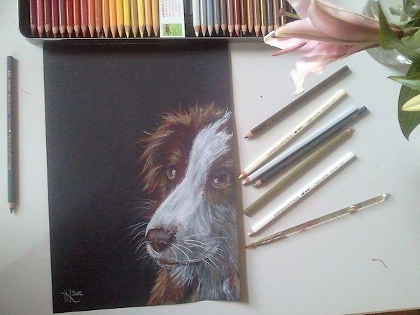 Hund Mailaka gemalt