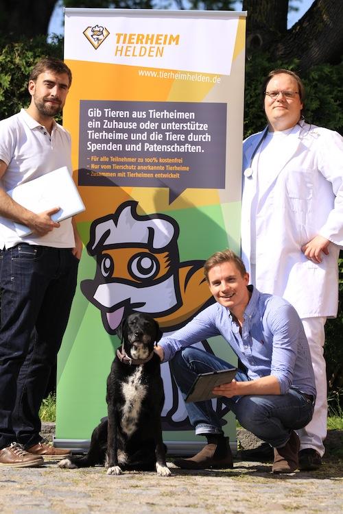 Tierheimhelden Team mit Hund