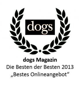 Dogs Magazin Award für das beste Hunde Onlineangebot