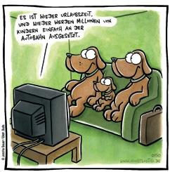 Hunde beim Fernsehen