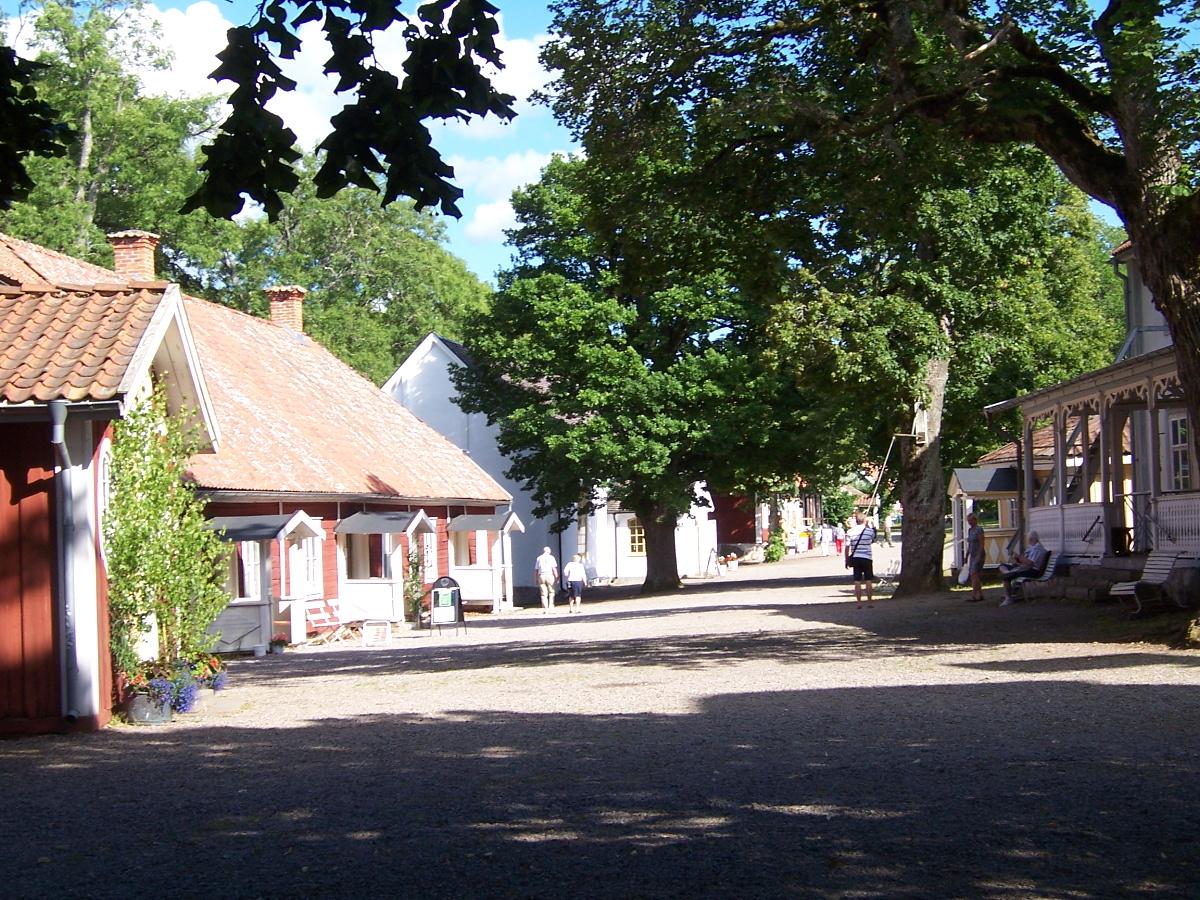 Blick in das Dorf Medevi Brunn