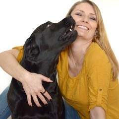 Andrea Seitz mit Hund