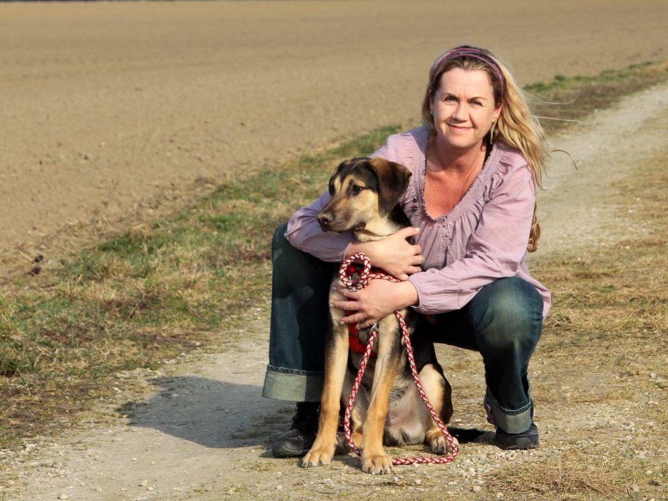 Susanne Kromarek mit Buddy