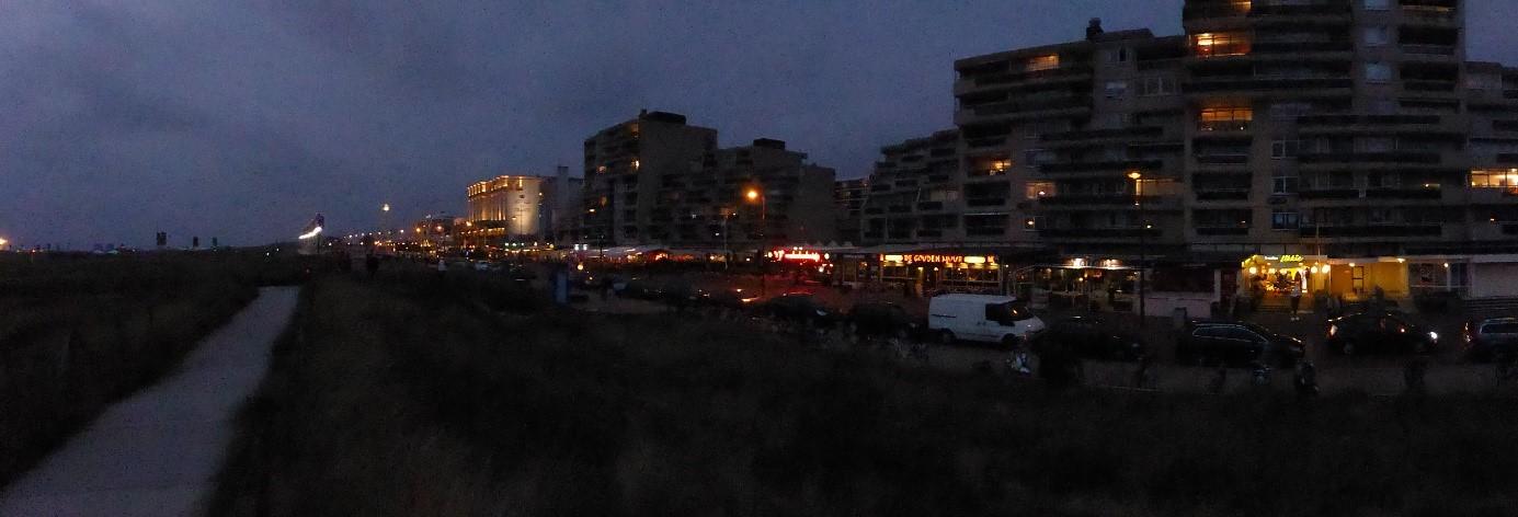 Urlaub in Nordwijk - bei Nacht