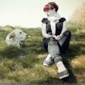 Isabelle Koschke mit Hund