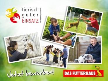 """Aktion """"Tierisch guter Einsatz"""" – jetzt bewerben! Tolle Preise von DAS FUTTERHAUS gewinnen"""