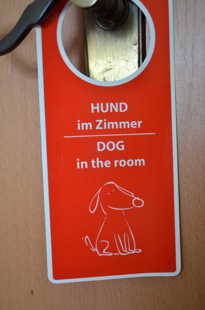 Hund im Hotelzimmer